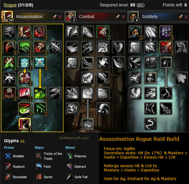 Assassination Rogue Raid Build