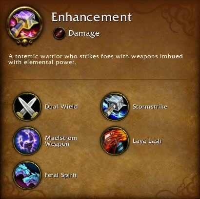 Enhancement Shaman Core Abilities