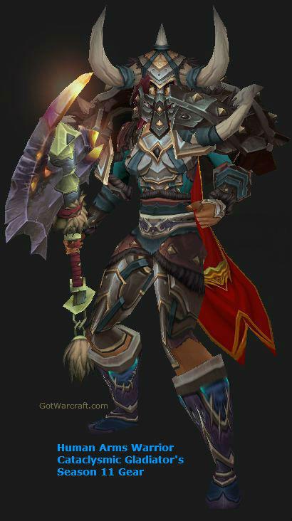 Human Female Arms Warrior in Season 11 Gear