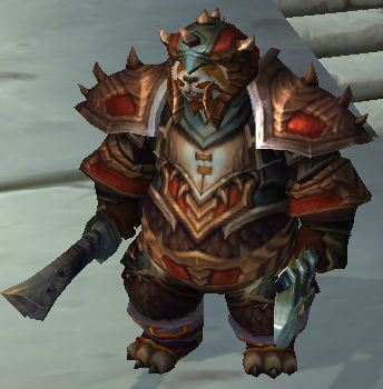 Pandaren Hunter with Axe and Sword