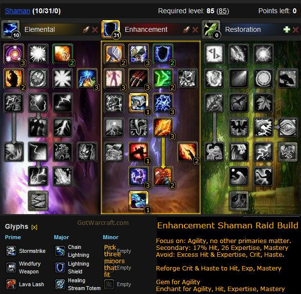 Enhancement Shaman Raiding Build