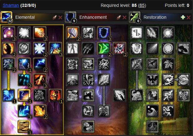 Elemental shaman leveling build