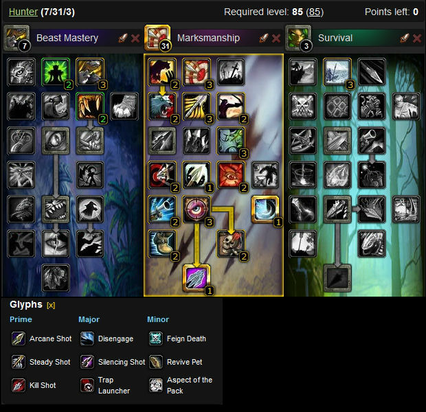 Marksmanship Hunter DPS Build