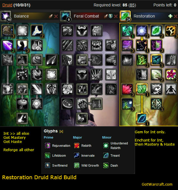 Restoration Druid Raid Build 1