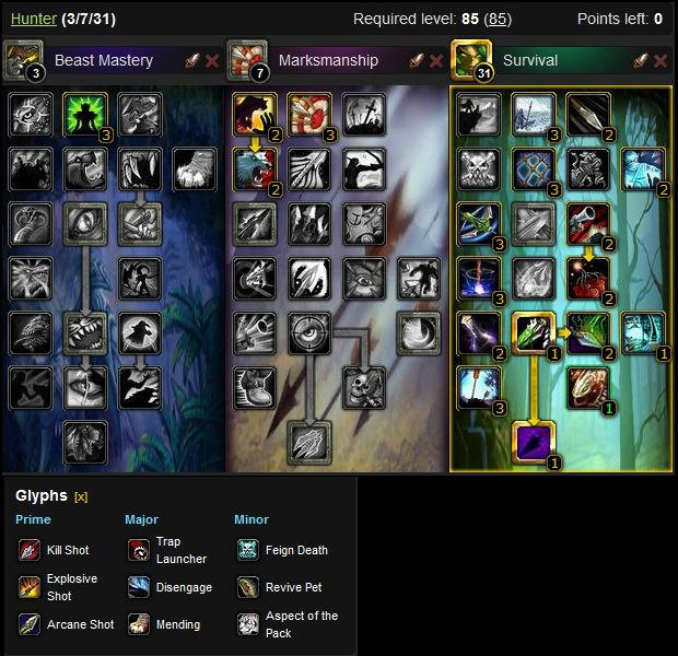 Survival Hunter DPS Build