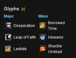 Discipline Priest PvP Glyphs for M of P
