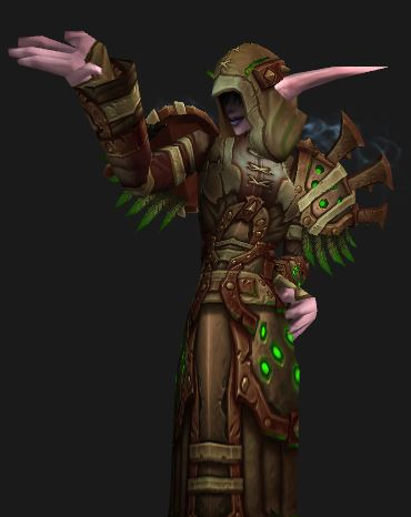 Night Elf Discipline Priest in Season 14 Elite Gear