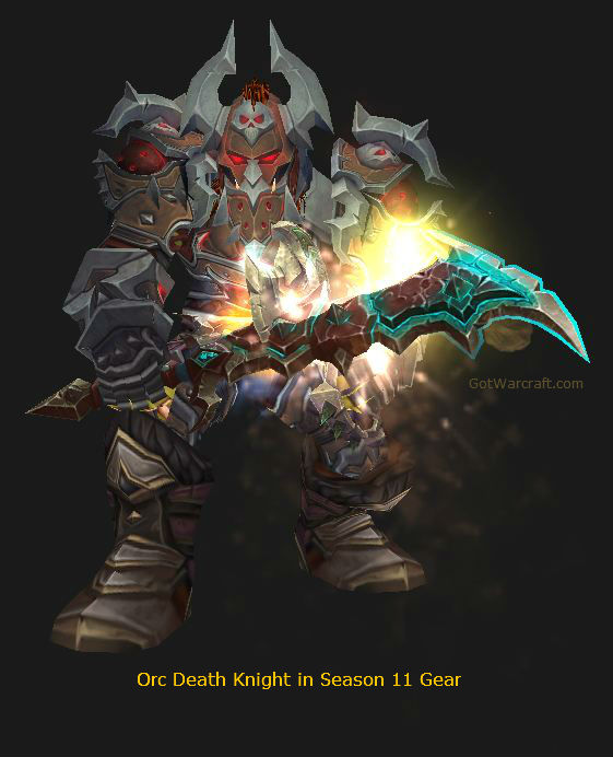 Unholy Orc Death Knight in Season 11 Gear