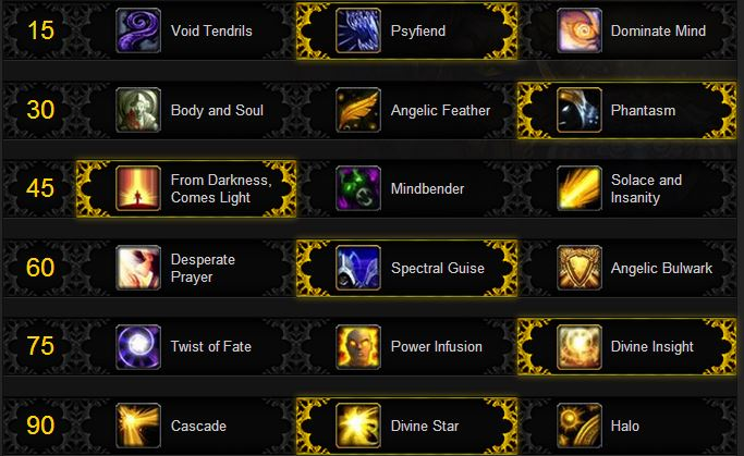 Shadow Priest PvP Talents
