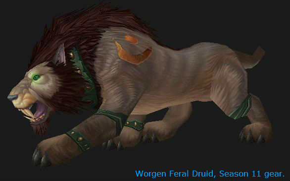 Worgen Feral Druid, Cat Form