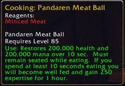 Pandaren Meat Balls