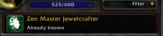 "Leveling your Jewelcrafting to ""Zen Master"""