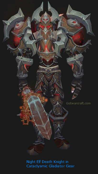 Night Elf Death Knight in Season 11 Gear