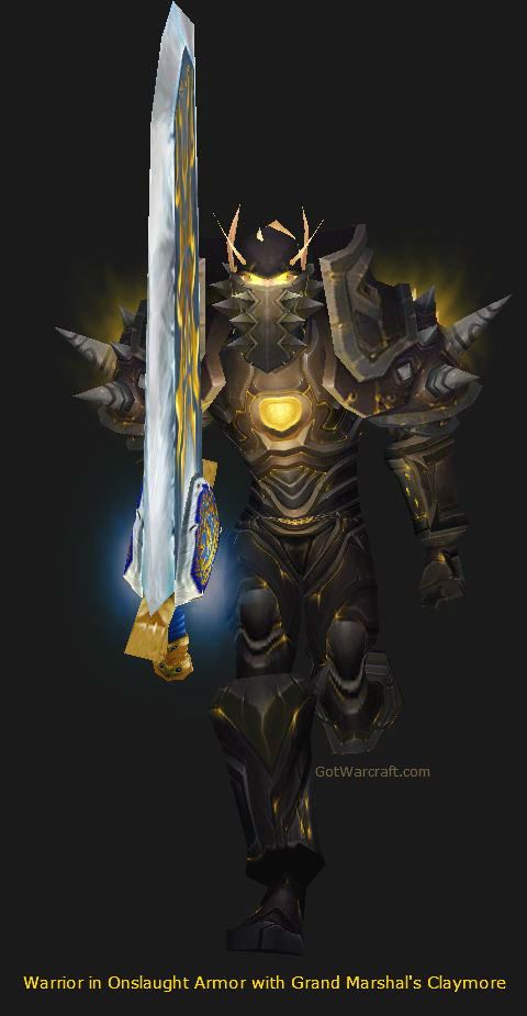 Warrior in Onslaught Armor