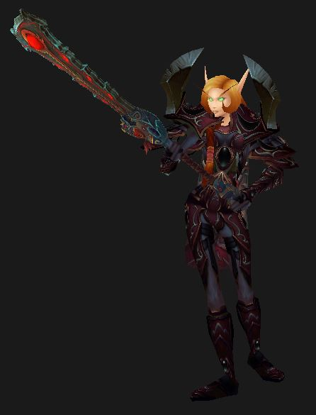 Blood Elf Retribution Paladin Challenges You