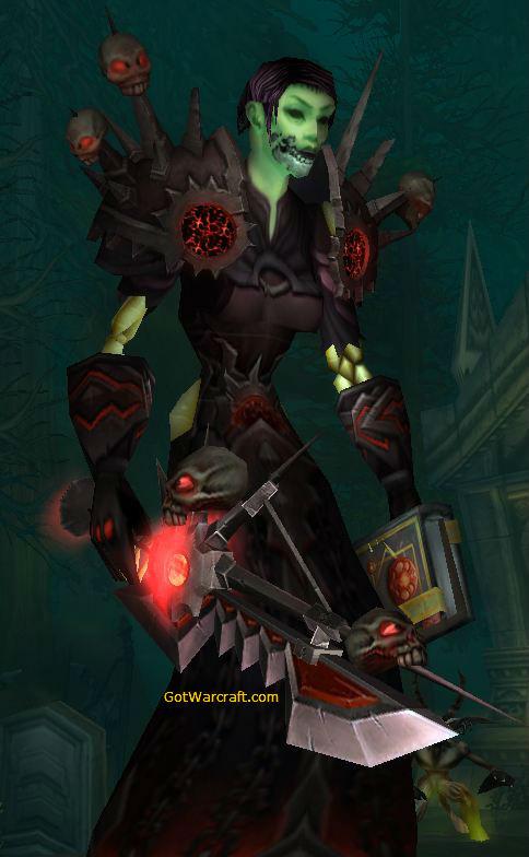 Undead Warlock in Corruptor Gear