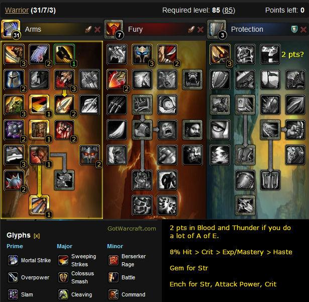 Arms Warrior Raid Build