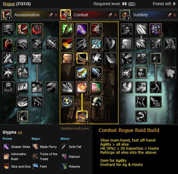 Combat Rogue Raid Build