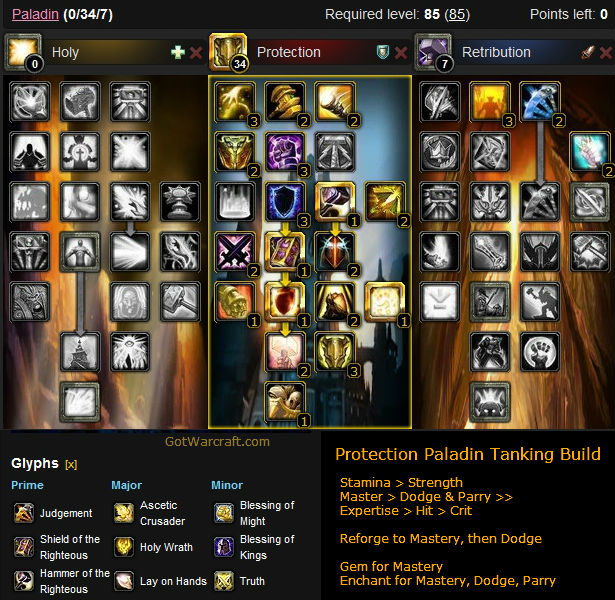 Protection Paladin Tanking Build 1