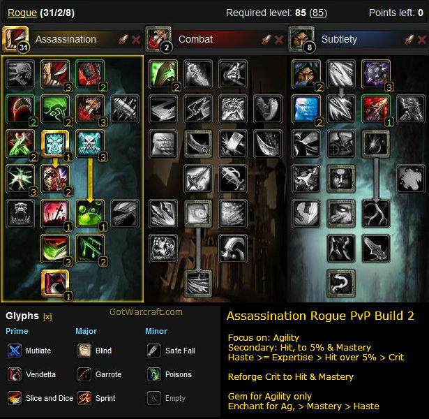 Assassination Rogue PvP Build #2