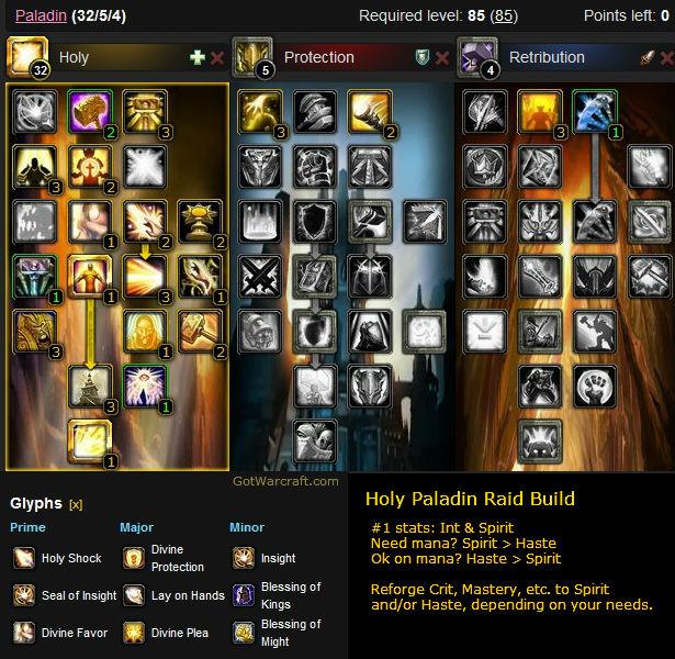 Holy Paladin Raid Healing Build #1