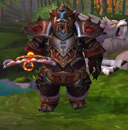 Pandaren Hunter with Wolf