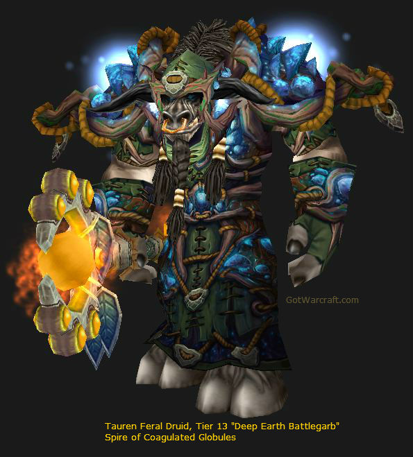 Tauren Druid Tier 13 Deep Earth Battlgarb