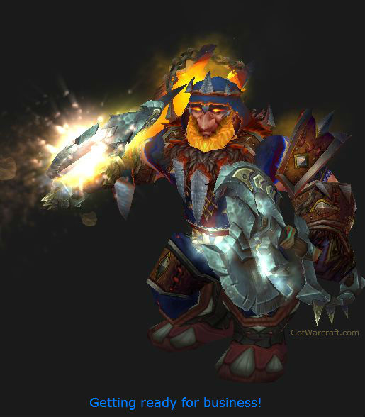 Dwarf Shaman getting ready to work
