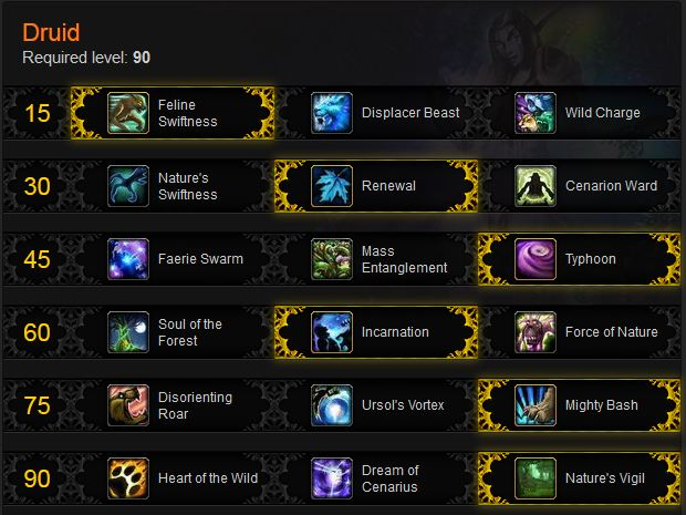 Feral Druid Leveling Build for Mists of Pandaria