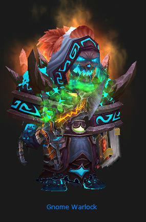 Gnome Warlock in Firelands gear
