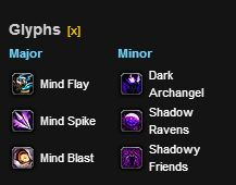 shadow leveling glyphs