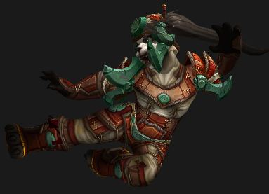 Female Pandaren Monk in Contender's Gear