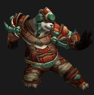 Male Pandaren Monk in Contender's Gear