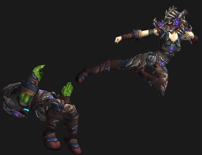 Human Kicking Orc Butt