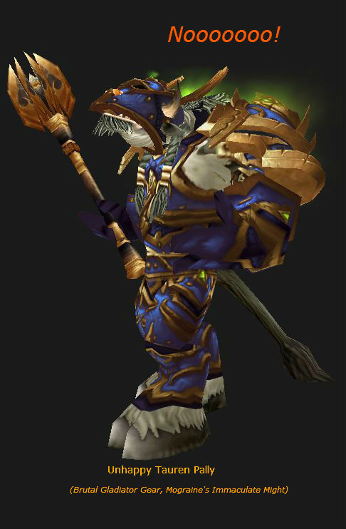 Tauren Paladin in Brutal Gladiator gear