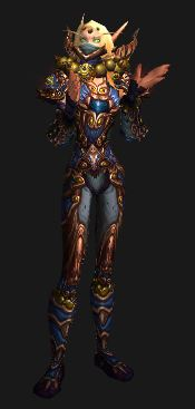 Blood Elf in Season 13 Gear Applauds You