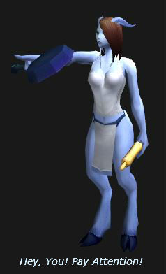 Draenei With the BoA Cooking Set