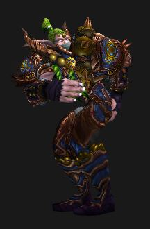 Night Elf Monk, in Season 13 Gear, Gives Some Advice to the Horde.