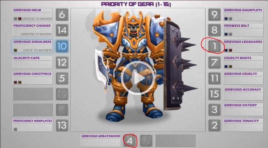 Warrior PvP Gear for the Mists of Pandaria 5 4 - GotWarcraft com