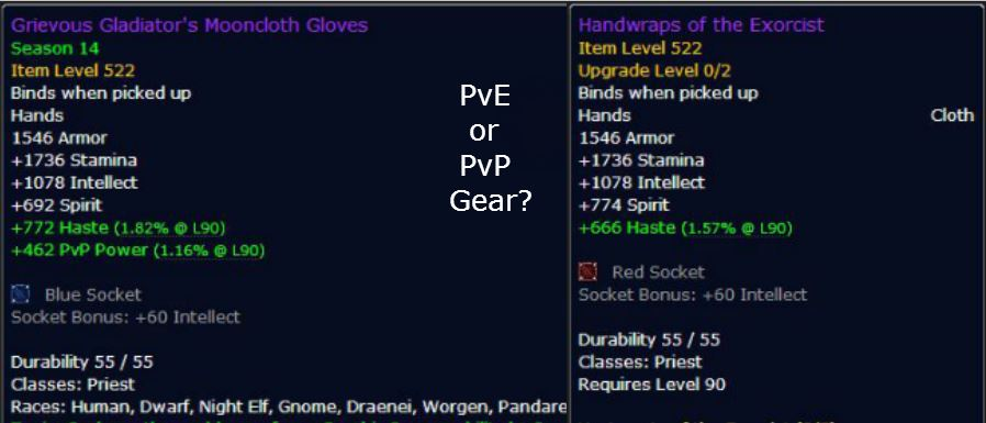 PvP Gear Vs PvE Gear