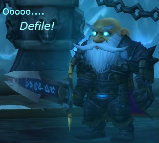 Gnome Death Knight likes Defile