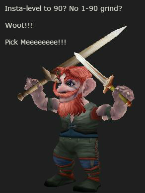 level 1 gnome rogue cheers for insta-leveling