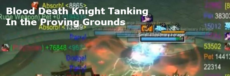 Blood Tanking the Proving Grounds, Going for the Gold