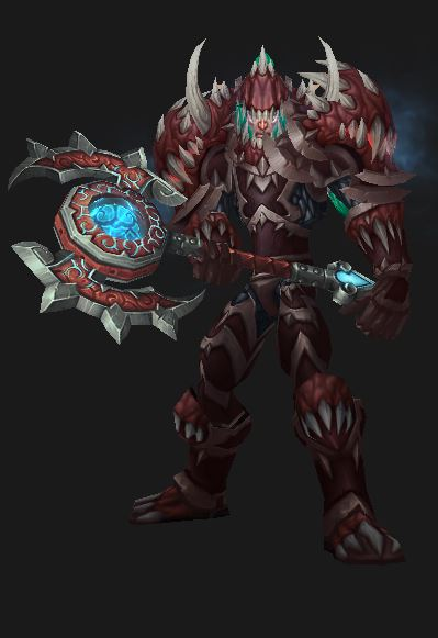 """Night Elf warrior in i528 """"Plate of the All-Consuming Maw"""""""