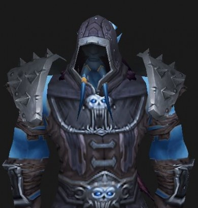 Draenei Death Knight with the starting gear set