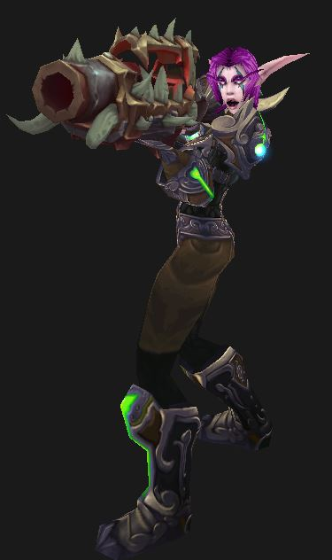 Night Elf Hunter with Gun