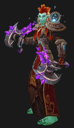Troll enhancement shaman in Battlegear of Celestial Harmony
