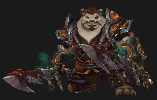 Pandaren Brewmaster in Primal Gladiator gear