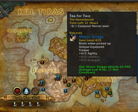 Kul Tiras world quests with item