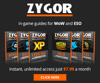 Leveling, Gold, Dungeons, More with Zygor